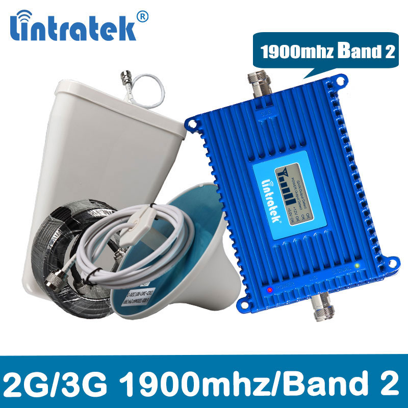 Celular Signal Booster 2G/3G 1900MH 3G Mobile Phone Amplifier Repetidor Gsm PCS 1900Mhz CellPhone Signal Repeater Kit @8.4
