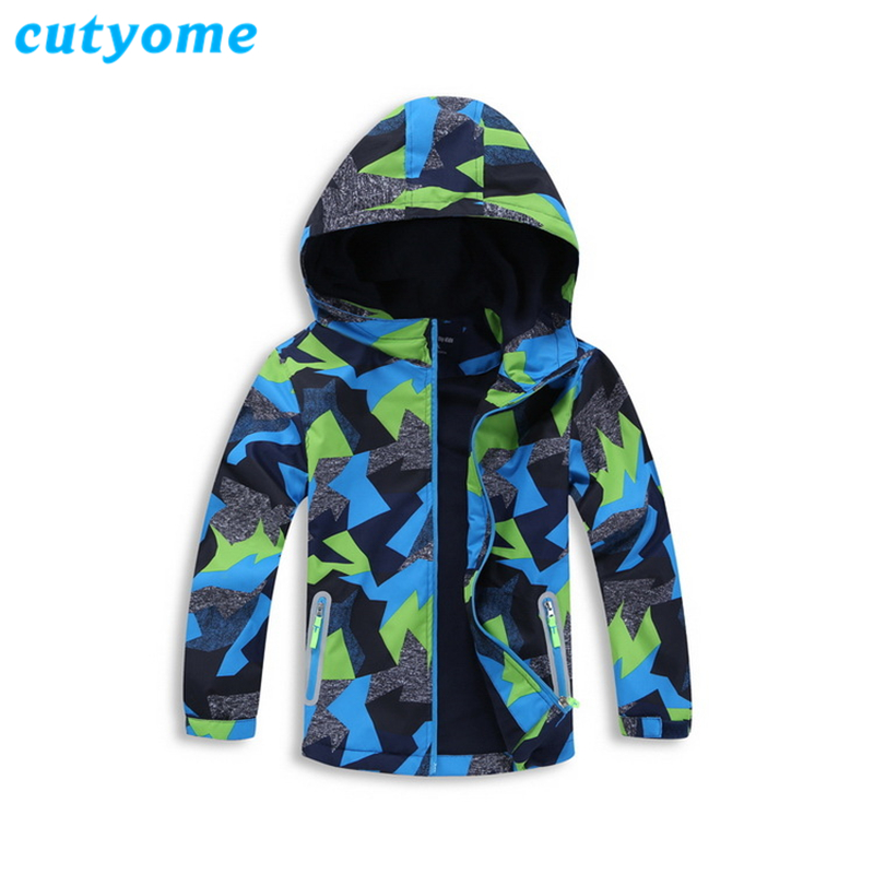 Cutyome 2018 Winter Softshell Jackets For Boys Polar Fleece Hoodie Warm Sporty Children Windbreaker Jackets Kids Outerwear Tops paul frank baby boys supper julius fleece hoodie