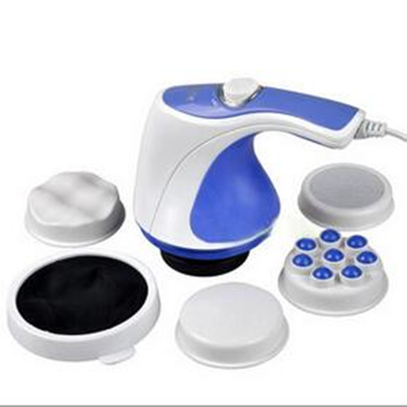 New health care gadget high quality Professional handheld women Body Massager Relax Spin Tone Reduce weight Slim machine set