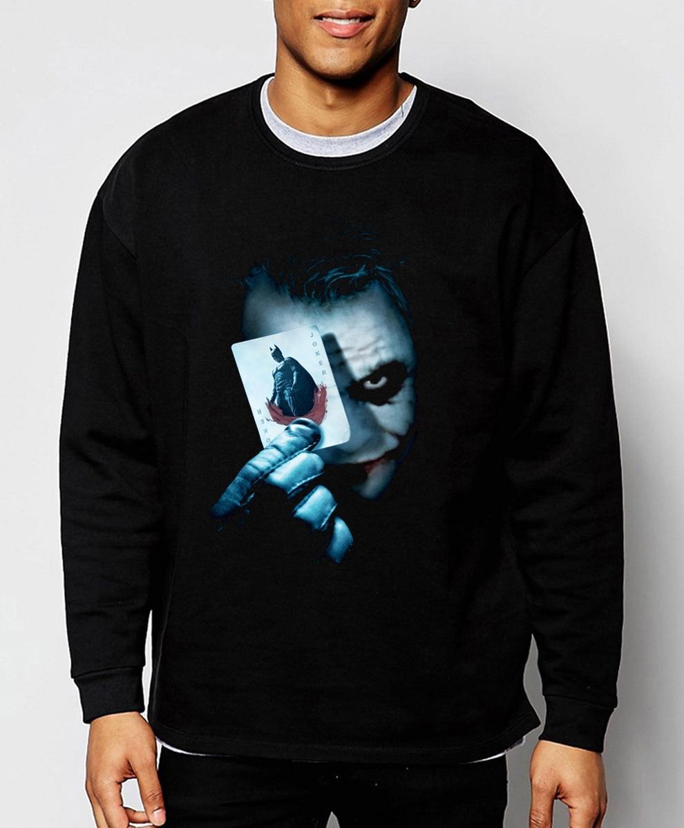 Joker Heath Ledger Batman 2 The Dark Knight Rises 2017 new spring winter fashion men sweatshirt hoodie cool streetwear tracksuit