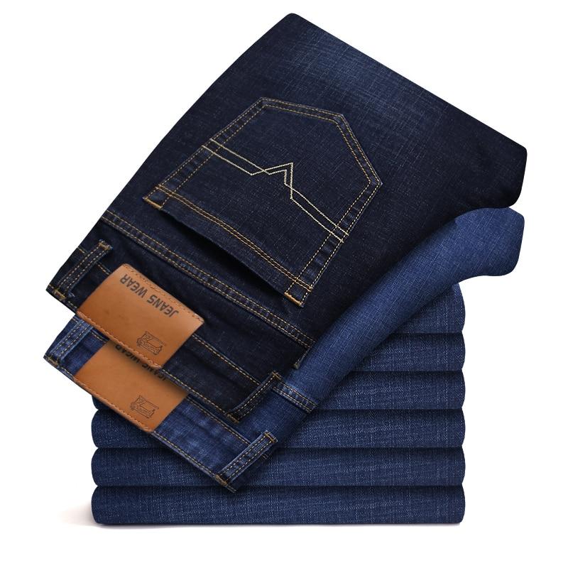Plus 40 42 46 New Spring cotton Jeans Men High Quality Famous Brand Denim trousers soft mens pants men's fashion Business Casual