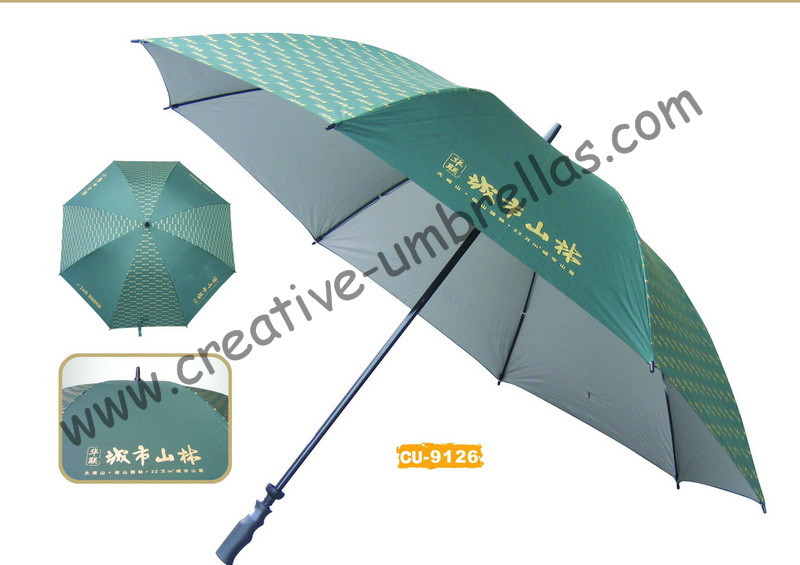 Free shipping by sea,14mm fiberglass shaft and ribs,hand open golf umbrella,windproof,anti-thunderbolt,hotel promotion umbrella