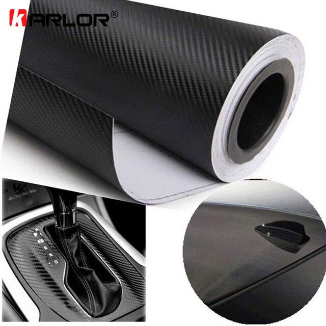 127 cm x 15 cm 3D 3 M Auto de fibra de carbono vinilo de la película de carbono coche rollo de hoja de papel de película coche de la motocicleta pegatinas etiqueta estilo de coche