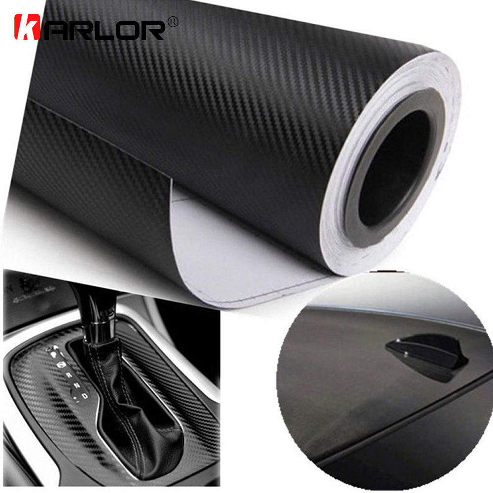 127cmx15cm 3D 3M Auto Carbon Fiber Vinyl Film Carbon Car Wrap Sheet Roll Film Paper Motorcycle Car Stickers Decal Car Styling