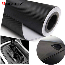 127cmx15cm 3D 3M Auto Carbon Fiber Vinyl Film Carbon Car Wrap Sheet Roll Film Paper Motorcycle Car Stickers Decal Accessories