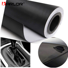 127cmx15cm 3D 3M Auto Carbon Fiber Vinyl Film Carbon Car Wrap Sheet Roll Film Paper Motorcycle Car Stickers Decal Car Styling(China)