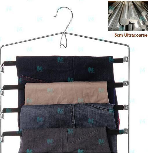 Metal High-grade Multi-storey Non-slip Trousers rack Multi-function Coat hanger Creative wardrobe trousers  rack Coat Racks