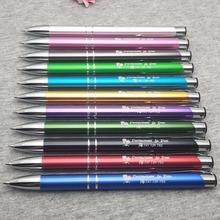 Mooie Bedrijf evenement geschenken gepersonaliseerde metalen pennen gegraveerd met uw bedrijf logo/website/e mail/merk beste geschenken voor werknemers