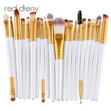 20pcs Eye Makeup Brushes Set Eyeshadow Blending Brush Powder Foundation Eyeshadading Eyebrow Lip Eyeliner Brush Cosmetic Tool цена