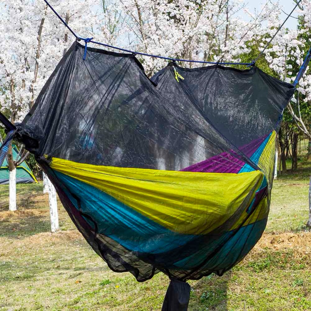 Hammocks Painstaking New Arrival Mosquito Bug Net For Hammock Parachute Fabric Portable Ultralight With Folding Bag Indoor Outdoor Camping Gear