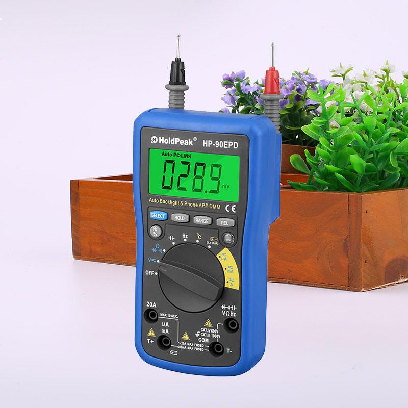 HoldPeak HP-90EPD Digital Multimeter DC/AC Voltage Current Capacitance Measurement holdpeak hp 760g 1000volt