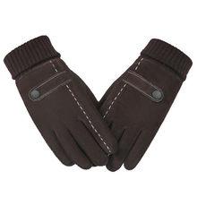 e9f7cff3e5f98c Touchscreen Mens Echtes Leder Handschuhe Fäustlinge Hohe Qualität Schwein  Haut Männlichen Winter Warme Winddicht Im Freien