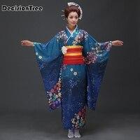 2019 new Japanese Kimono Women Yukata Traditional Kimonos Female Bathrobe Japanese Ancient Clothes Costume