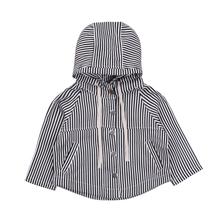 2018 new autumn fashion kid coats Toddler Baby Boys Warm Long Sleeve striped Hooded Jacket Outwear stylish kid unisex Coat 1-5T