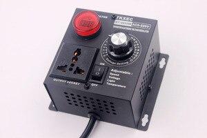 Image 5 - EU プラグ AC 220V 4000 3800w Scr 電子電圧レギュレータ温度モーターファンースピードコントローラーディマー電動工具調整可能な