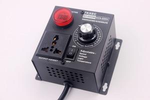Image 5 - EU Plug AC 220V 4000W SCR Electronic Voltage Regulator Temperature Motor FAN Speed Controller Dimmer Electric tool Adjustable