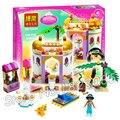 145 unids nueva lindo 10434 serie de la princesa jasmine's exotic palace building blocks ladrillo chicas amigos juguetes compatibles con lego