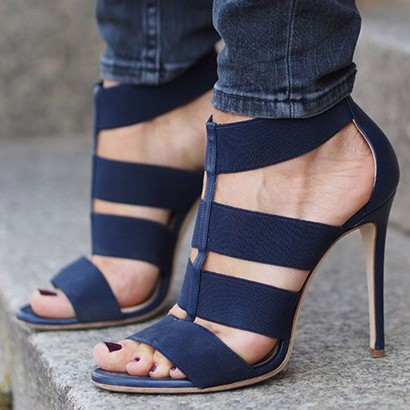 064c6c0de66 MONMOIRA Sexy High Heel Gladiator Sandals Women Narrow Band Party Shoes  Women Navy Blue High Heel Shoes Women SWC0333-in High Heels from Shoes on  ...