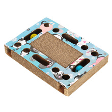 Hoopet Cat Toy Kitten Scratch Board Pad Corrugated Scratcher Bed Mat Claws Care Sound Ball Round Toys Playing Supplies