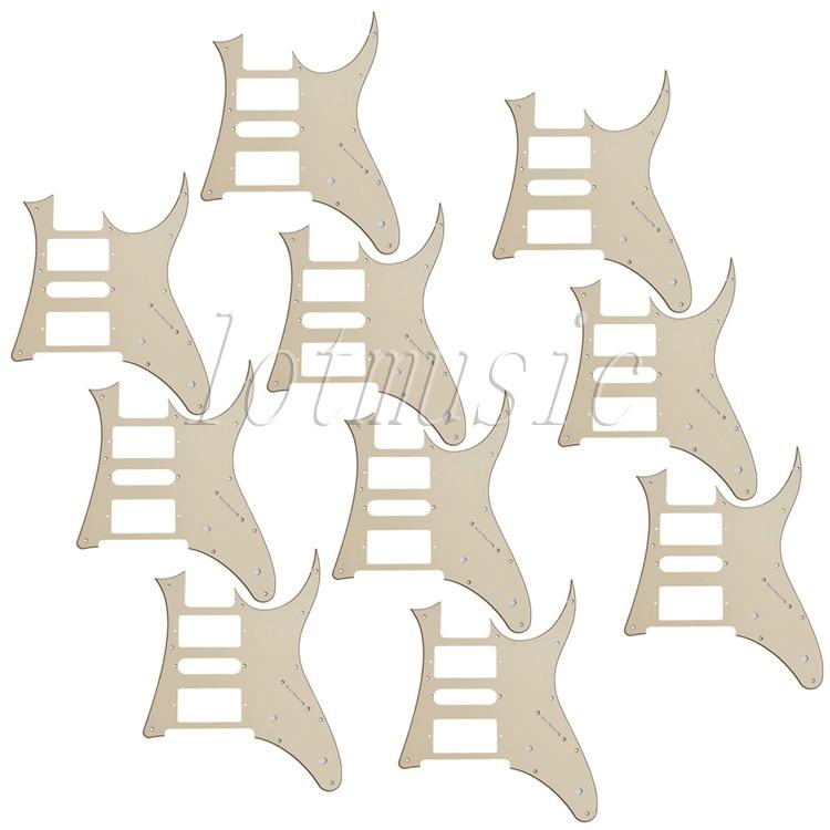 10 pièces nouvelle crème HSH guitare Pickguard pour Ibanez RG250 Style remplacement