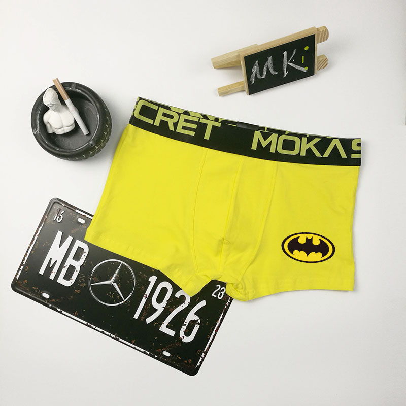 Batman printed Men Underwear Boxers Shorts combed Cotton cartoon Solid Men Underpants Underwear Masculina Cueca Boxers Men in Boxers from Underwear Sleepwears