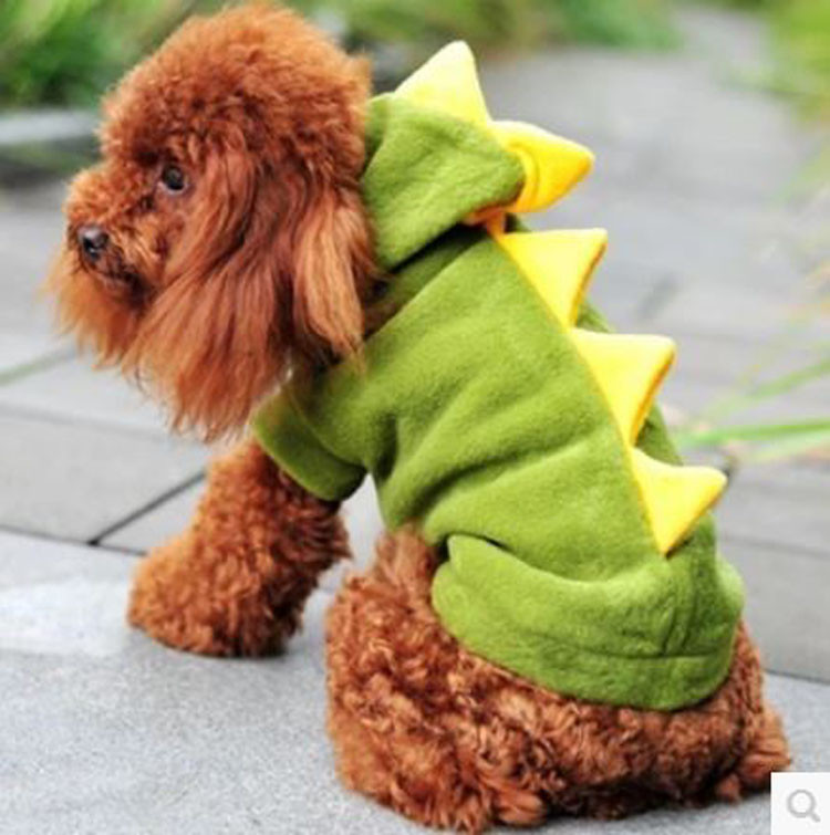Novelty Pet Dog Hoodie For Small Dogs Clothes Winter Dinosaur Puppy Coat Clothing For Chihuahua Cat Costume XS S M L XL 1296
