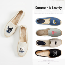 women's espadrille Embroider shoes Comfortable