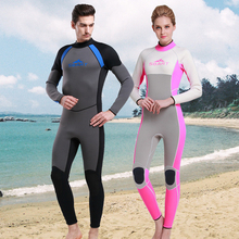 Neoprene warm winter swimming surfing long sleeve one-piece swimsuit thicker male jellyfish diving suit snorkeling suit 3MM цена