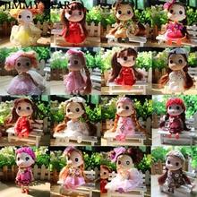 Subcluster 5 Pcs/Set 12cm Dress-up Mini Ddung Dolls with Brown Gold Hair Girl Toys Styles Random
