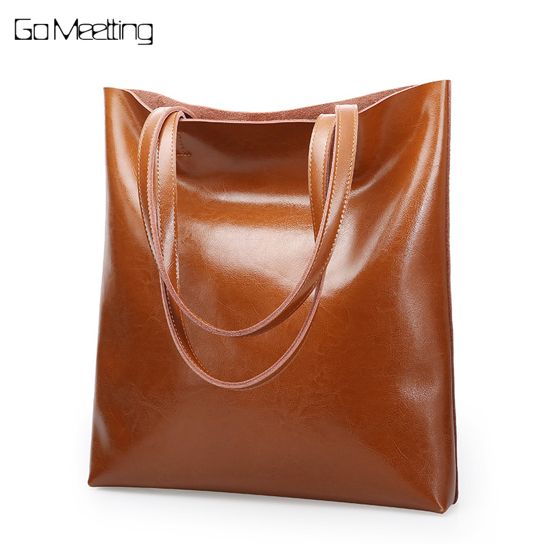 Go Meetting Genuine Leather New Fashion Luxury Handbag Women Large Tote Bag Female Shoulder Bags Lady Shopping bolsa feminina arlanfivis genuine leather bags for women luxury large capacity handbag new 2018 fashion bolsa feminina ladies tote shopping bag