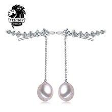 FENASY Naturales pendientes de Perlas de Joyería de Perlas Gargantilla para Mujeres Casual Estilo 2016 de La Joyería 9-10mm Perla Del Encanto de Bohemia pendientes