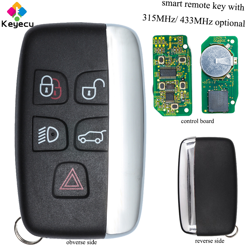 KEYECU Replacement Smart Remote Car Key 4 1 5 Buttons 315MHz 433MHz FOB for Jaguar XF