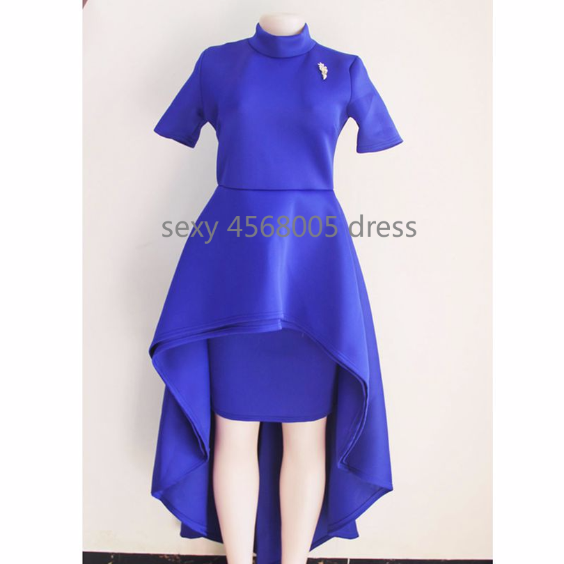 f4241e69b4c ... 2018 spring blue red black white ruffle dress african dresses for women  a line short sleeve ...