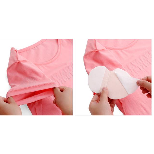 25Pcs Disposable Armpits Sweat Pads Dress Sweat Perspiration Underarm Pads Men Women Summer Deodorants Absorbent Cotton Pads 15