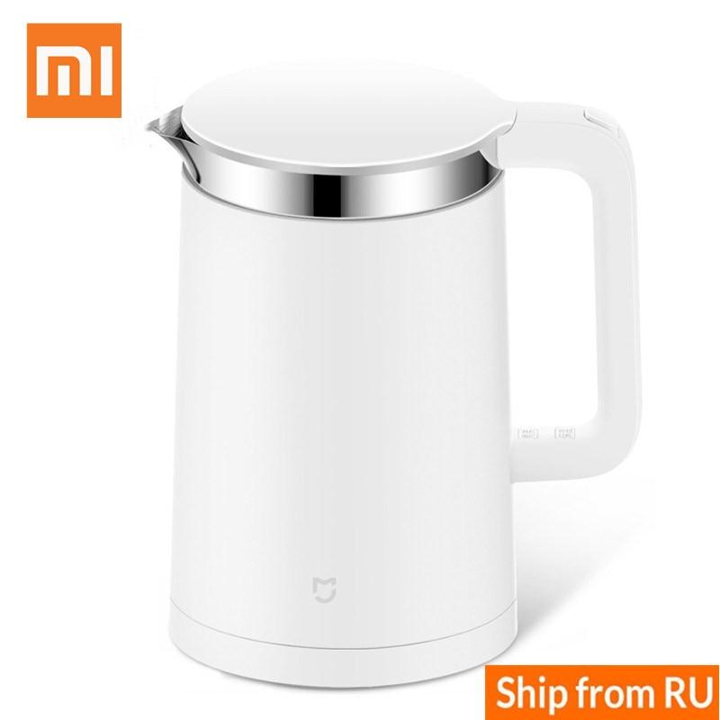 Xiaomi электрические чайники Mijia Smart чайник 1.5L Управление по мобильному телефону приложение 12 часов Термостатические электрические чайники