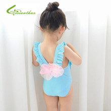 Newest Cute Baby Girl Swimwear One Piece Kids Girls Swimsuit Kid Swimming Suit Swim Wear Children Girl Backless Bowknot Bikini недорго, оригинальная цена