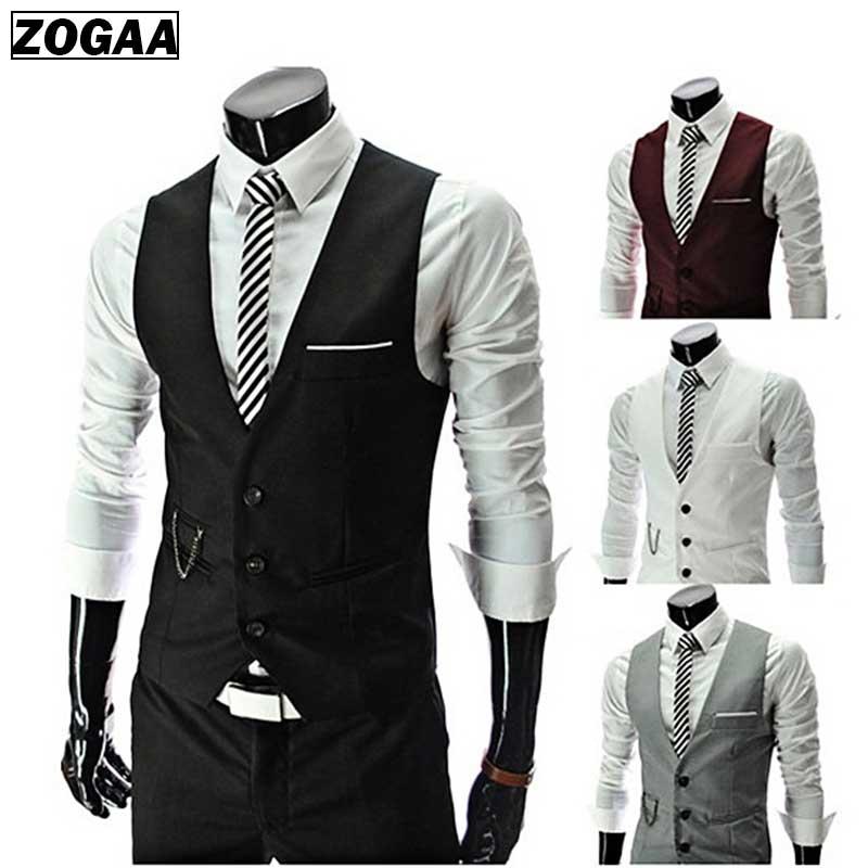 ZOGAA Men's Suit Vest British Style Vest Men Formal Chalecos Spring And Autumn Para Hombre Waistcoat For Men