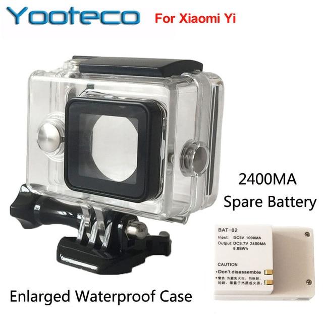 Для Xiaomi Yi Спорт Камеры Аксессуары Сяо Yi yi Внешний Запасной Аккумулятор + Увеличить Водонепроницаемый Корпус Корпус Box
