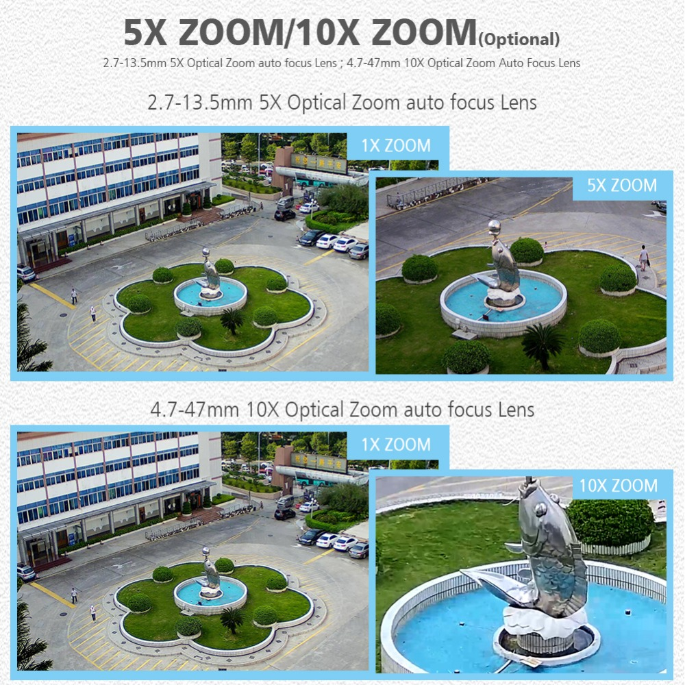 Image 2 - Wireless HD 1080P Bullet Wifi PTZ IP Camera Audio 5X / 10X Optical Zoom Lens 2MP IP Camera Outdoor IR WI Fi Cameras ONVIF CamHi-in Surveillance Cameras from Security & Protection
