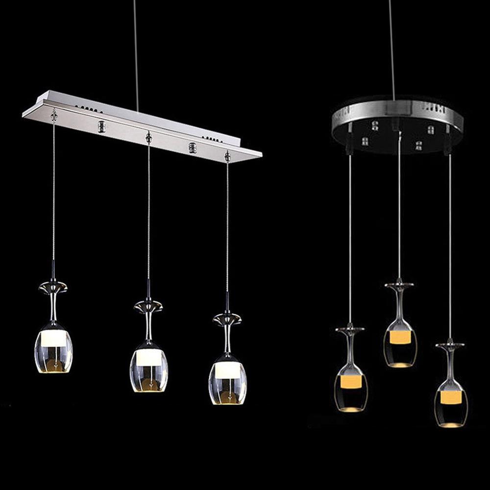 European Style Modern LED Wine Glass Ceiling Light Lamp Fixture Lighting Chandelier 110-220V AC