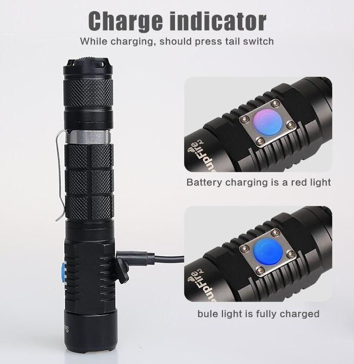 Halogène Lampe Cree XM-U2 3500 Lumens LED lampe de Poche En Plein Air Led Éclairage Serchinglight par HID Dédié Batterie