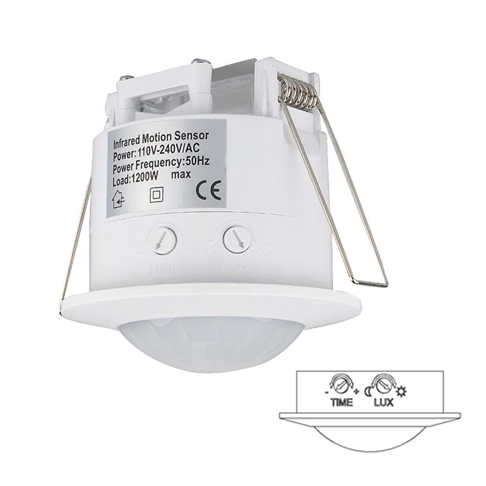 Sensky 360 Degree Ceiling Motion Light Switch Automatic PIR Sensor light lamp Switch (4pcs ET041) sensky high sensitivety 360 degree 110v 220v ac automatic ceiling infrared pir motion sensor led light switch 037