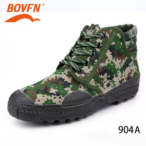 Image 2 - Military Camouflage Wear resistant Rubber Shoes Worker Farmland Garden Industrial Boots Non Slip Mountain Climbing Man
