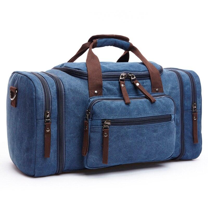 2018 nya canvasväskor för män och kvinnor med ren färg och stor - Väskor för bagage och resor - Foto 4