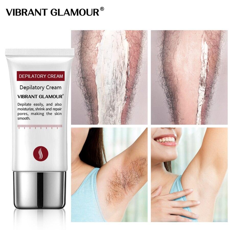 VIBRANT GLAMOUR Крем для удаления волос с депиляцией Безболезненные подмышки Ноги для рук Удаление
