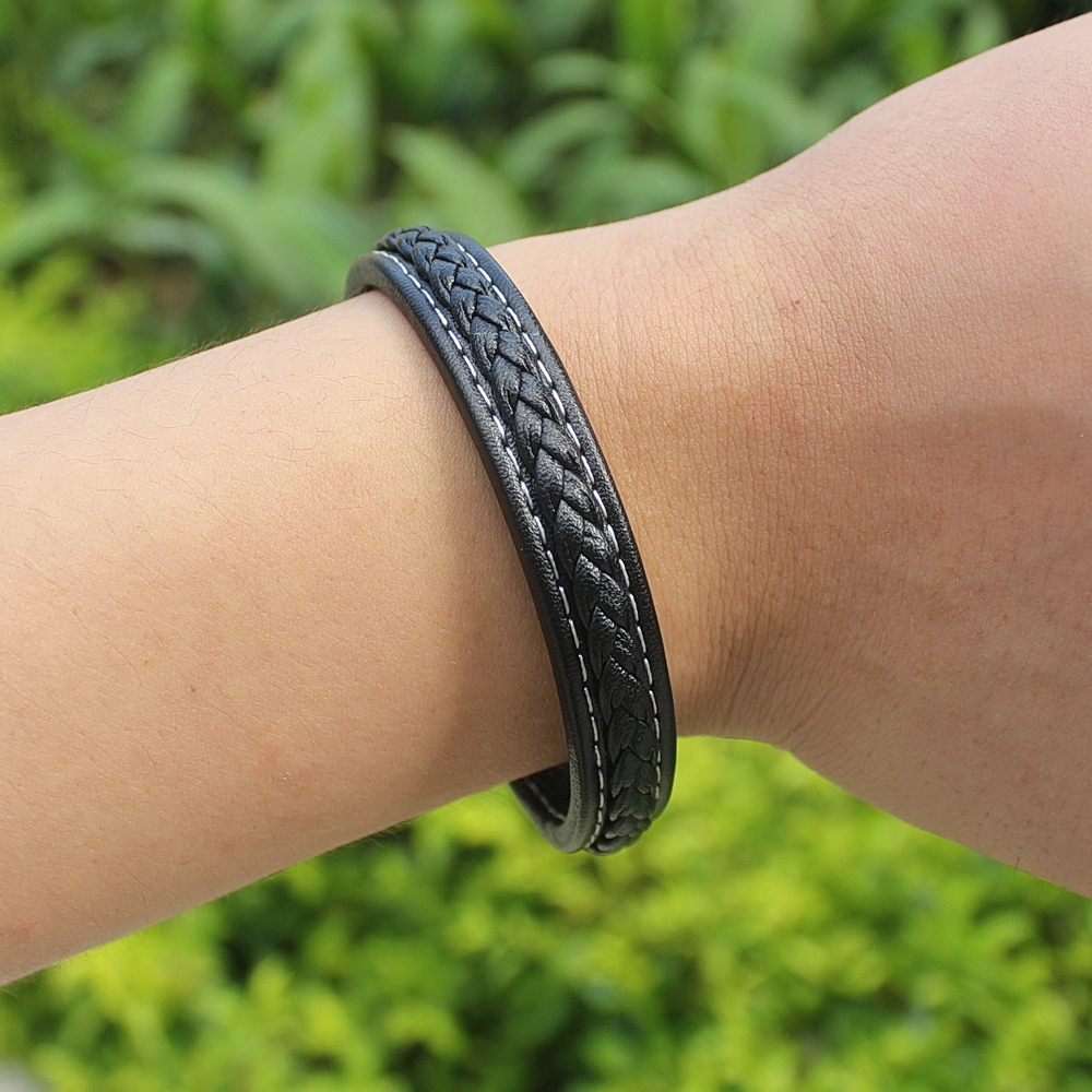TYO Personality Braided Genuine Leather Bracelet & Bangle For Men 6 Colors For Choices Minimalist Design Accessories Jewelry