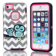IQD For iPhone SE 5 5s Cover,Owl hybrid case for apple 3 in1 Design shockproof Case for iPhone 5C Cases