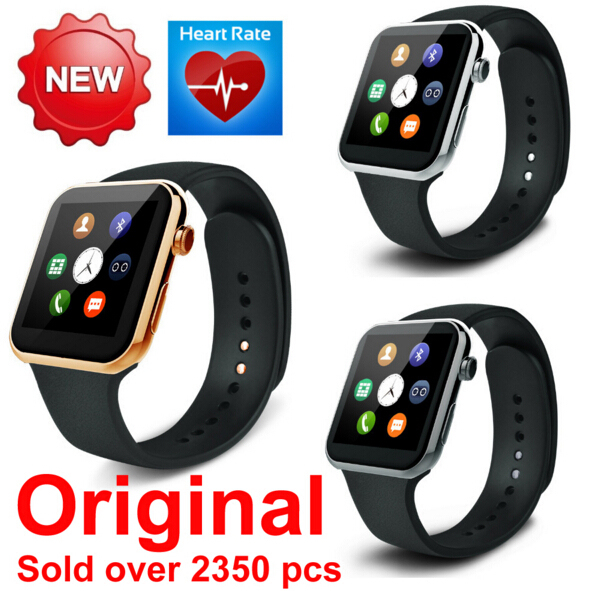2015 Новый Smartwatch A9 Bluetooth Smart watch для Apple iPhone & Samsung Android Телефон relógio reloj inteligente смартфон часы
