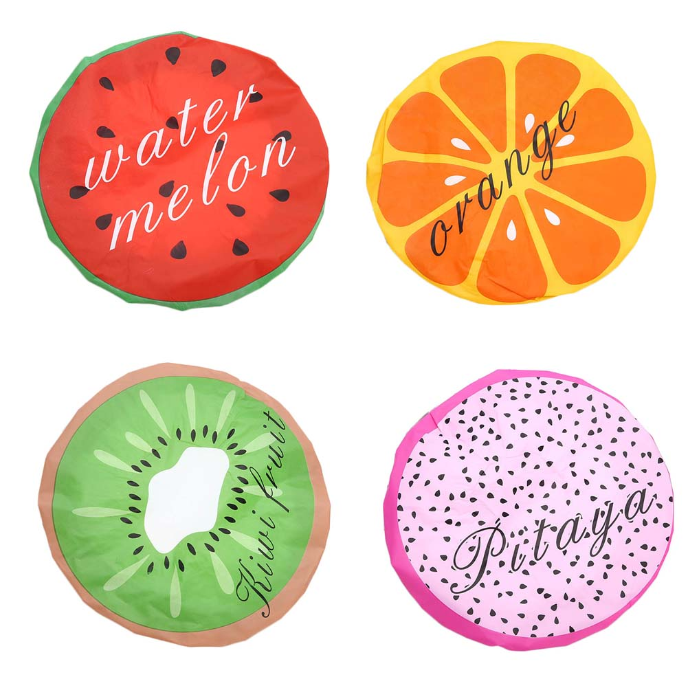Shower Caps Cute Fruit Shower Bath Cap Watermelon Women Hat For Baths Saunas Lace Elastic Band Cap Spa Cap Women Kids Hair Protective Cap Cheap Sales