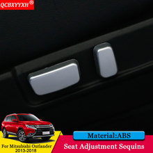 QCBXYYXH Car-styling Car Interior Seat Adjustment Decoration Sequins Sticker Auto Accessories For Mitsubishi Outlander 2013-2018